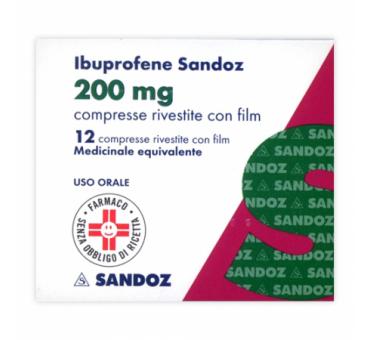 Ibuprofene san 12cprriv200mg